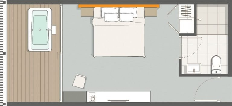 The Coast Phangan Deluxe Sea View Room Floor Plan